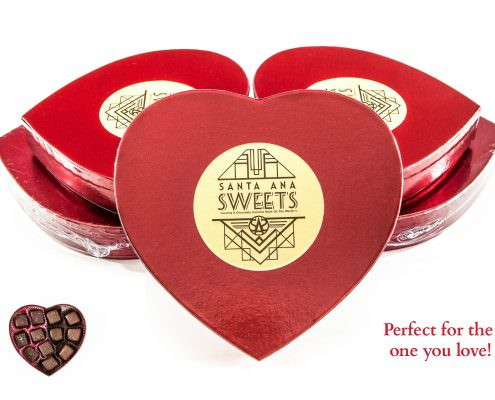 Santa Ana Sweets, Heart Shaped Packaging
