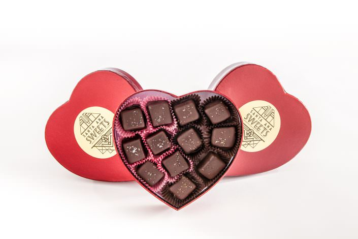 Santa Ana Sweets, Heart Shape Boxes