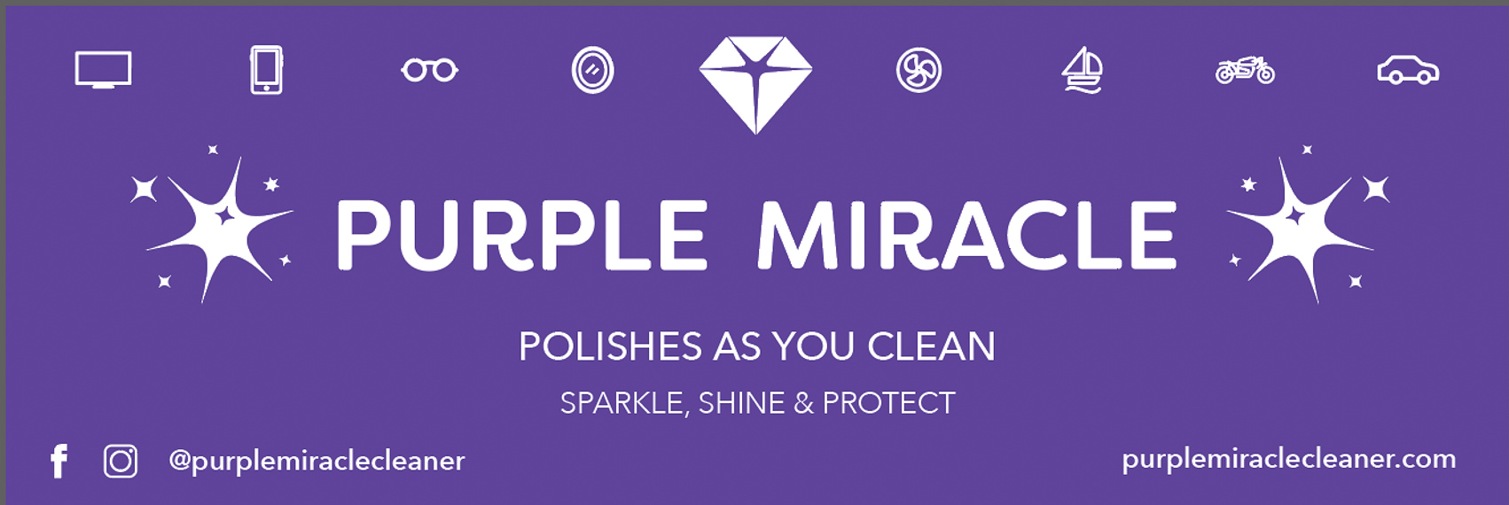 Purple Miracle Cleaner and Polish Banner Art