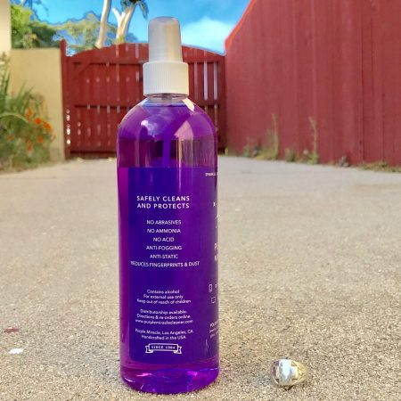 Purple Miracle Jewelry Cleaner and Polish Safely Cleans and Protects Label